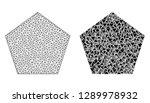 mesh vector filled pentagon... | Shutterstock .eps vector #1289978932
