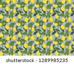 seamless pattern of branches... | Shutterstock . vector #1289985235
