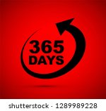 three hundred and sixty five...   Shutterstock .eps vector #1289989228