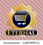 gold emblem or badge with... | Shutterstock .eps vector #1289989912