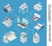 modern printing house equipment....   Shutterstock .eps vector #1289992732
