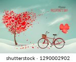 valentine's day background with ... | Shutterstock .eps vector #1290002902