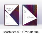 stylish cover design template... | Shutterstock .eps vector #1290005608