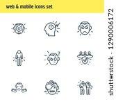 illustration of 9 emoji icons...   Shutterstock . vector #1290006172