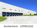 warehouse with blue sky | Shutterstock . vector #129001262