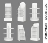 empty shelving stands.... | Shutterstock .eps vector #1290012622