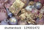 christmas pink background | Shutterstock . vector #129001472