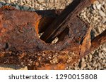 rusty anchor raised from the... | Shutterstock . vector #1290015808