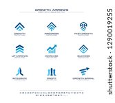 growth arrows creative symbols... | Shutterstock .eps vector #1290019255