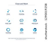 clean and wash creative symbols ... | Shutterstock .eps vector #1290019258