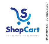 shopping cart logo  electronic... | Shutterstock .eps vector #1290022138