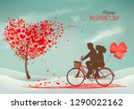 valentine's day background with ... | Shutterstock .eps vector #1290022162