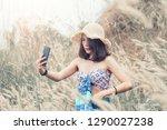 asian women relax in the...   Shutterstock . vector #1290027238