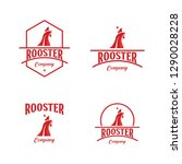 rooster company logo vector... | Shutterstock .eps vector #1290028228