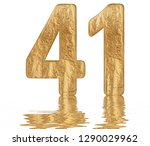 numeral 41  forty one ... | Shutterstock . vector #1290029962