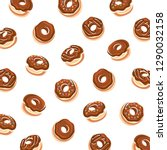 donut background. collection...   Shutterstock .eps vector #1290032158