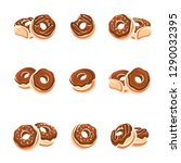 donut set. collection icons...   Shutterstock .eps vector #1290032395