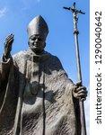 a statue of pope john paul ii...   Shutterstock . vector #1290040642