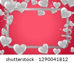valentines background with... | Shutterstock .eps vector #1290041812