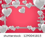 valentines background with... | Shutterstock .eps vector #1290041815