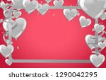 valentines background with... | Shutterstock .eps vector #1290042295