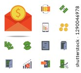 envelope and coin colored icon. ... | Shutterstock .eps vector #1290046978