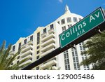 Collins Avenue Street Sign In...