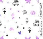 light purple  pink vector... | Shutterstock .eps vector #1290075622
