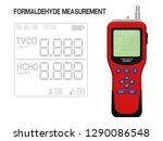 isolated formaldehyde detector... | Shutterstock .eps vector #1290086548