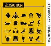 set of industrial icon on... | Shutterstock .eps vector #1290086635