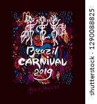 brazil carnival 2019. beautiful ... | Shutterstock .eps vector #1290088825