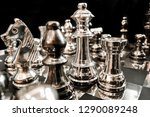 metal chess on the board. | Shutterstock . vector #1290089248