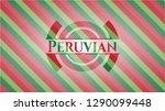 peruvian christmas badge. | Shutterstock .eps vector #1290099448