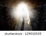 Man Walking To The Light