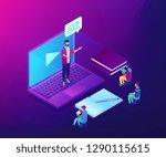 business people watching online ... | Shutterstock .eps vector #1290115615