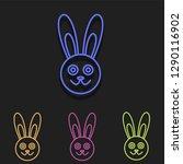 rabbit icon in multi color....