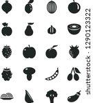 solid black vector icon set  ...   Shutterstock .eps vector #1290123322