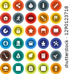 white solid icon set  ladle... | Shutterstock .eps vector #1290123718