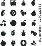 solid black vector icon set   a ... | Shutterstock .eps vector #1290123958