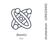 linear atomic icon from... | Shutterstock .eps vector #1290125452