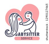 nanny service isolated icon... | Shutterstock .eps vector #1290127465