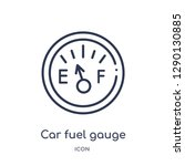 linear car fuel gauge icon from ... | Shutterstock .eps vector #1290130885