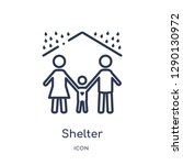 linear shelter icon from... | Shutterstock .eps vector #1290130972