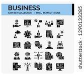 business icons set. ui pixel... | Shutterstock .eps vector #1290133285