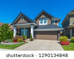 big custom made luxury house... | Shutterstock . vector #1290134848