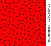 ladybug pattern. polka dot...   Shutterstock .eps vector #1290140428