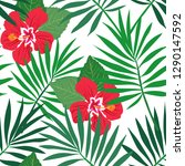 tropical seamless repeat... | Shutterstock .eps vector #1290147592