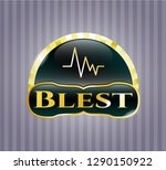 gold emblem or badge with... | Shutterstock .eps vector #1290150922