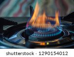 flame from gas stove for... | Shutterstock . vector #1290154012