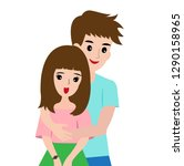 man and woman hug the concept...   Shutterstock .eps vector #1290158965